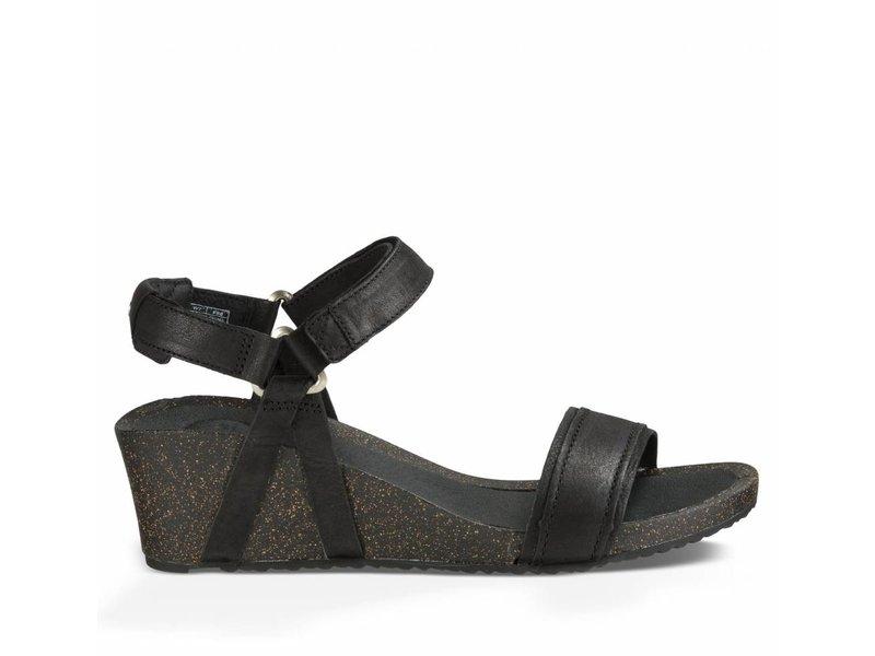Teva sandalen ysidro stitch wedge zwart
