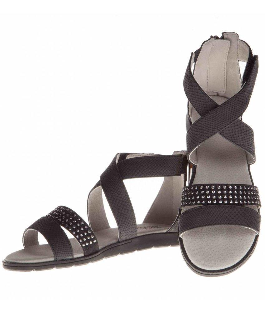 BullBoxer Sandalen zwart studs