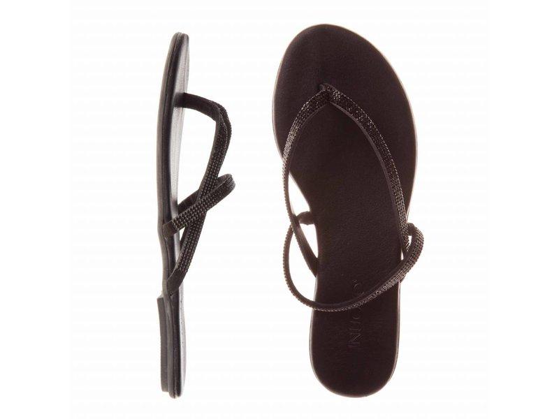 INUOVO sandalen grijs glitter