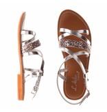 L'Atelier Tropezien sandalen zilver metallic