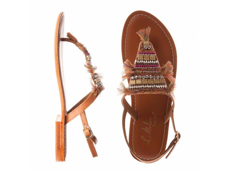 L'Atelier Tropezien sandalen lichtbruin