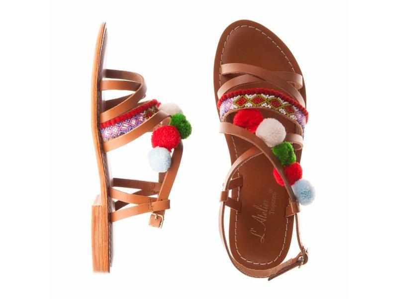 L'Atelier Tropezien sandalen pompom