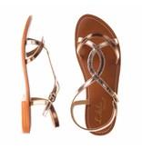 L'Atelier Tropezien sandalen silver multi color