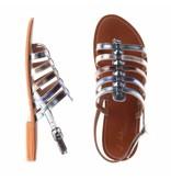 L'Atelier Tropezien sandalen multi color blauw