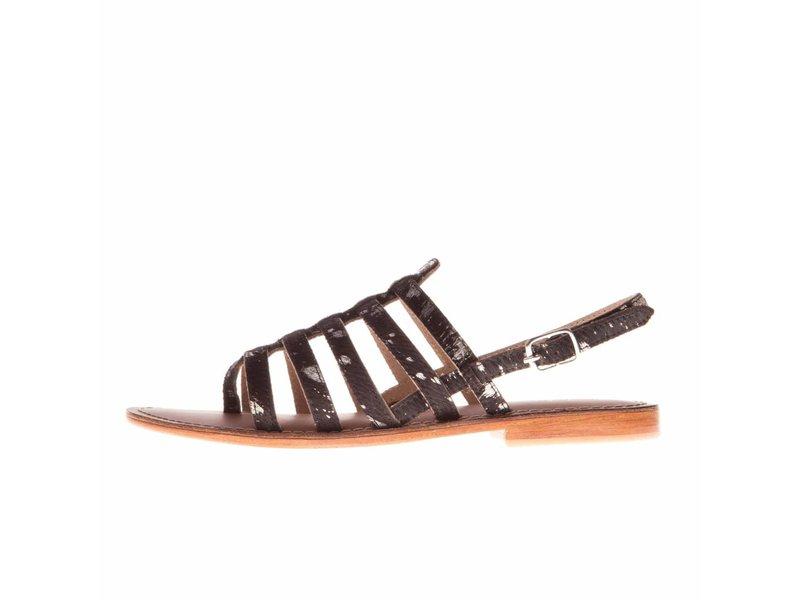 L'Atelier Tropezien sandalen zwart glitter