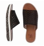 La Femme Plus sandalen zwart met steentjes