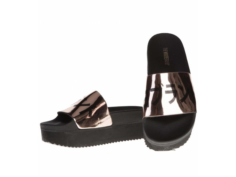 The White Brand slippers metallic Japan hoge zool