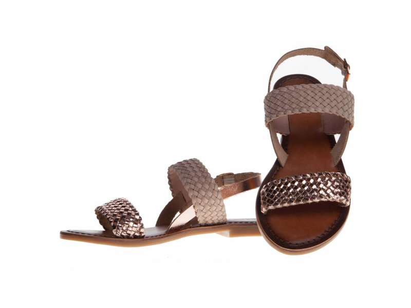 INUOVO sandalen leder shiny blush