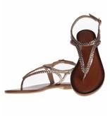 INUOVO sandalen leder goud