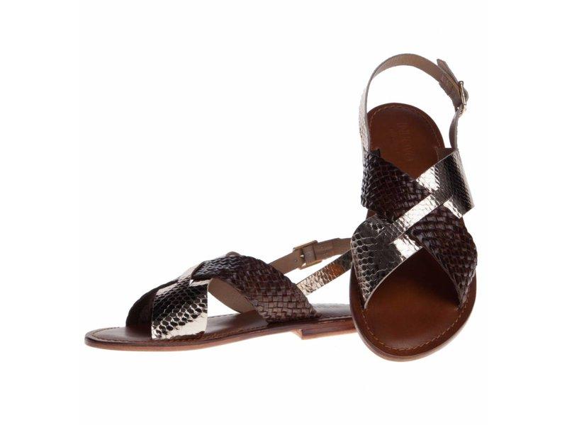 INUOVO sandalen leder goud bruin