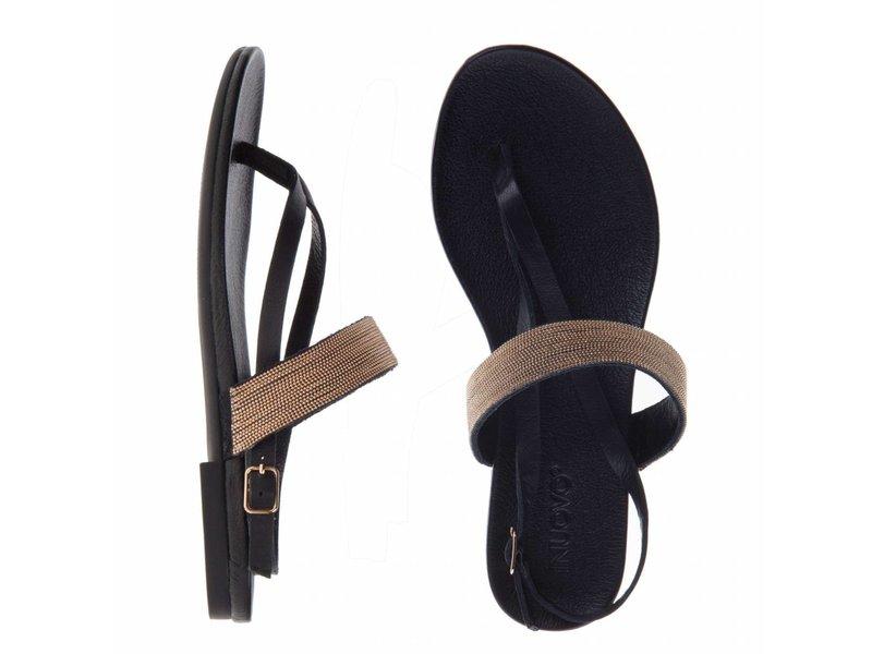 INUOVO sandalen leder zwart
