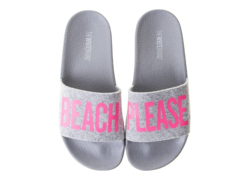 The White Brand slippers beach please roze