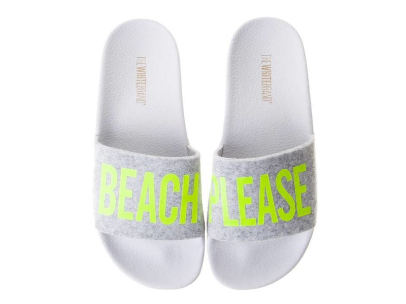 The White Brand slippers beach please yellow