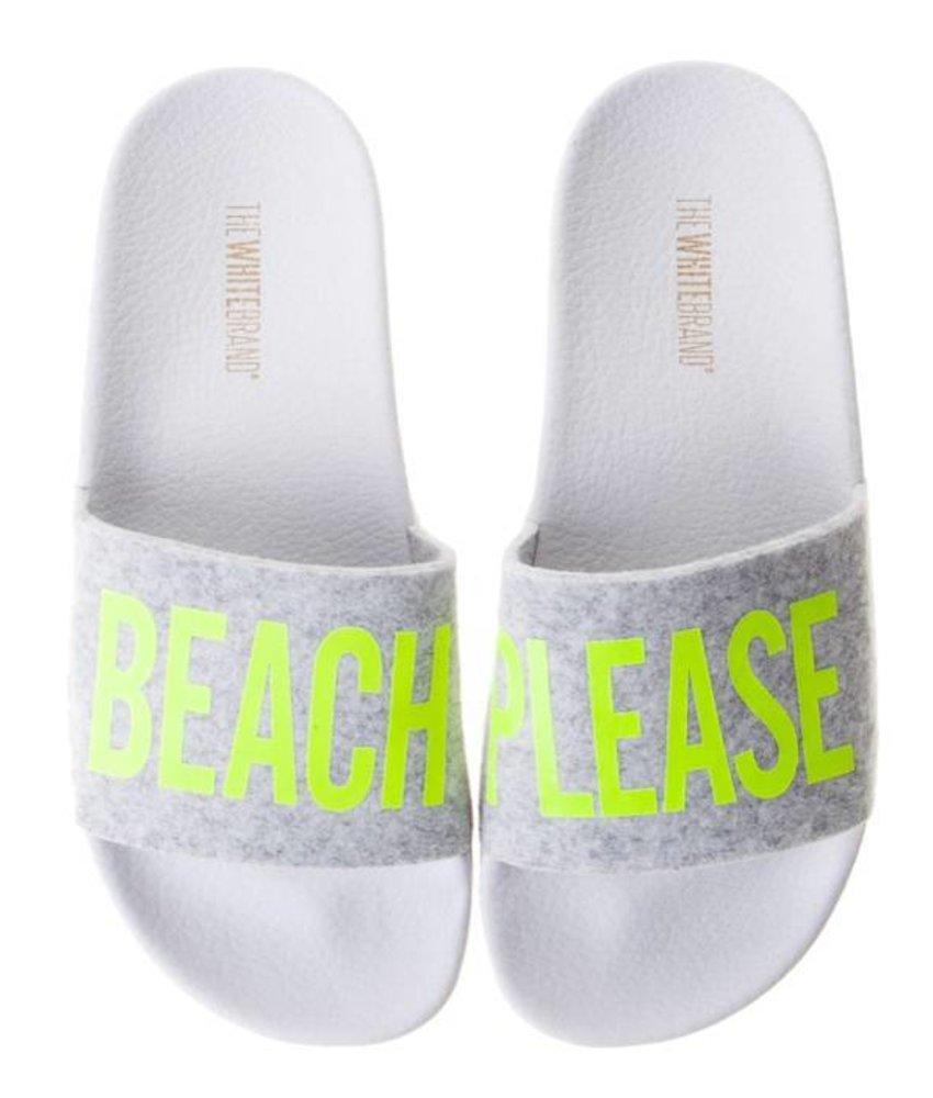 The White Brand slippers beach please yellow kids