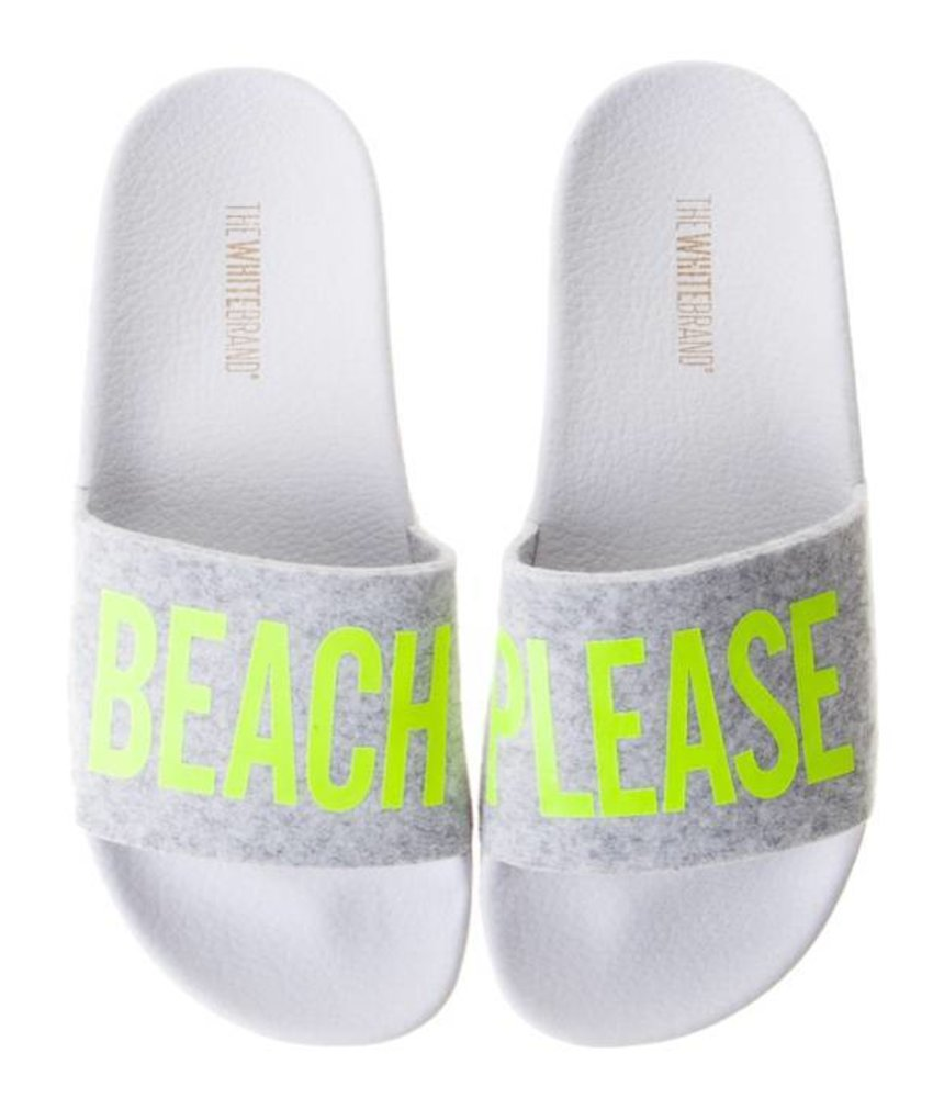 The White Brand slippers beach please yellow