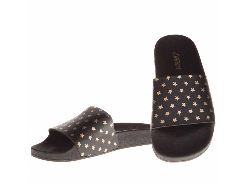 The White Brand slippers gold stars