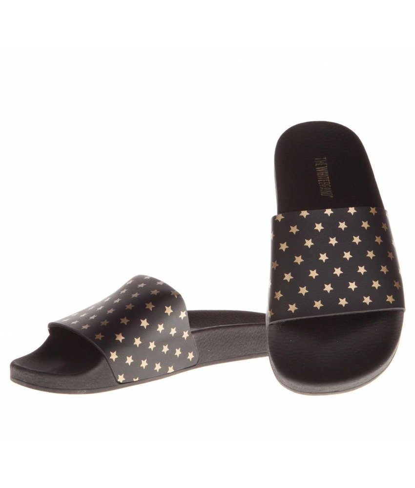 The White Brand slippers gold stars