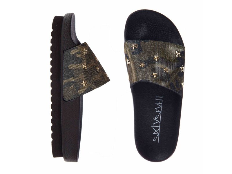 SIXTYSEVEN slippers camouflage khaky