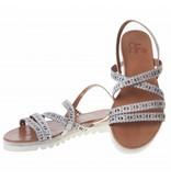 La Femme Plus sandalen grijs met steentjes