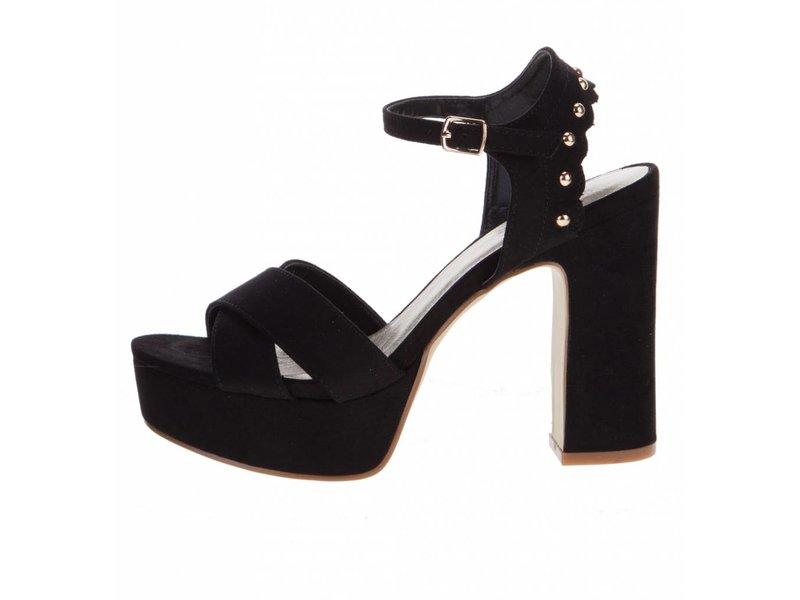 BullBoxer sandalen plateau zwart