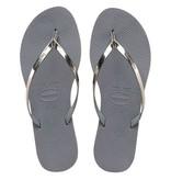 Havaianas you metallic steel grey