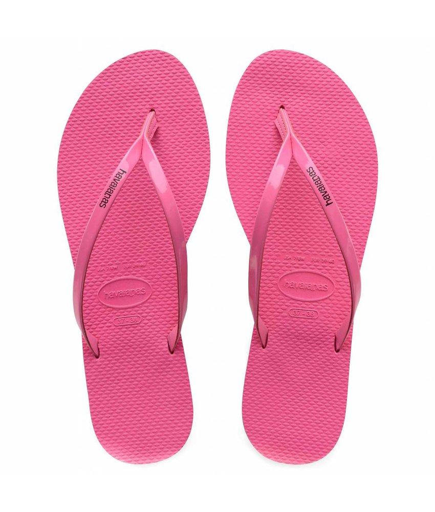 Havaianas you metallic shocking pink