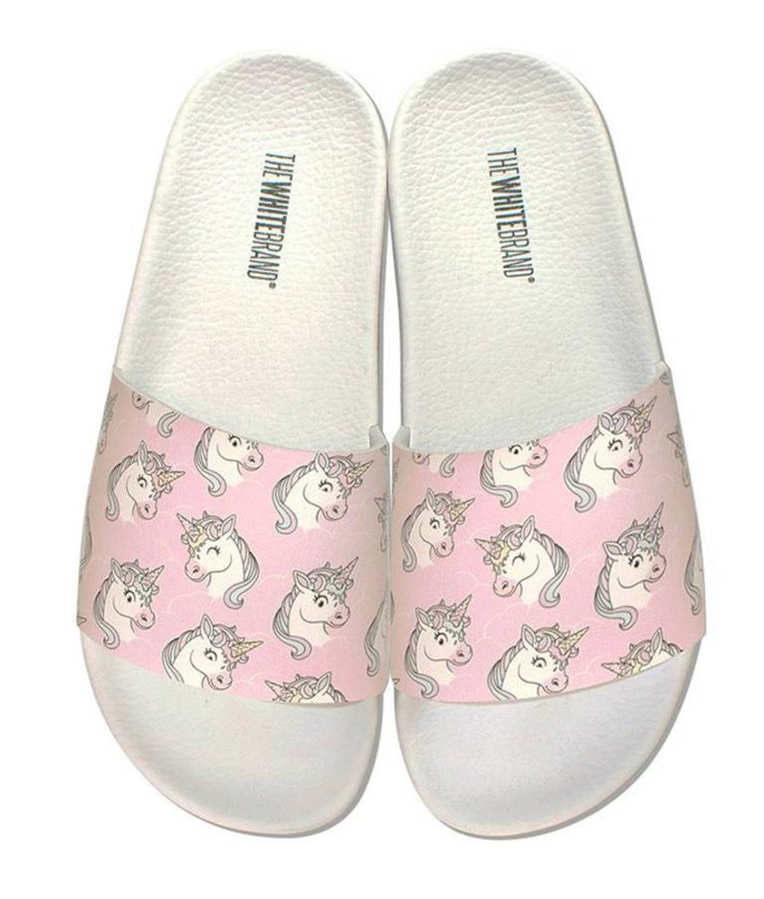 The White Brand slippers unicorn roze
