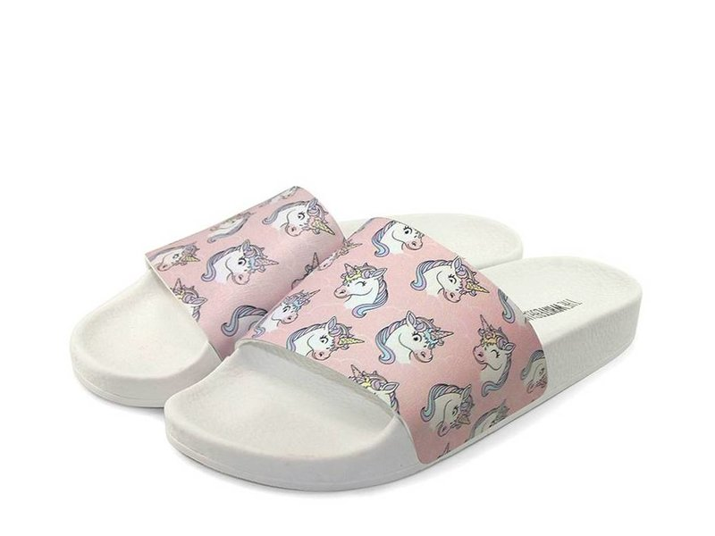 The White Brand slippers unicorn roze