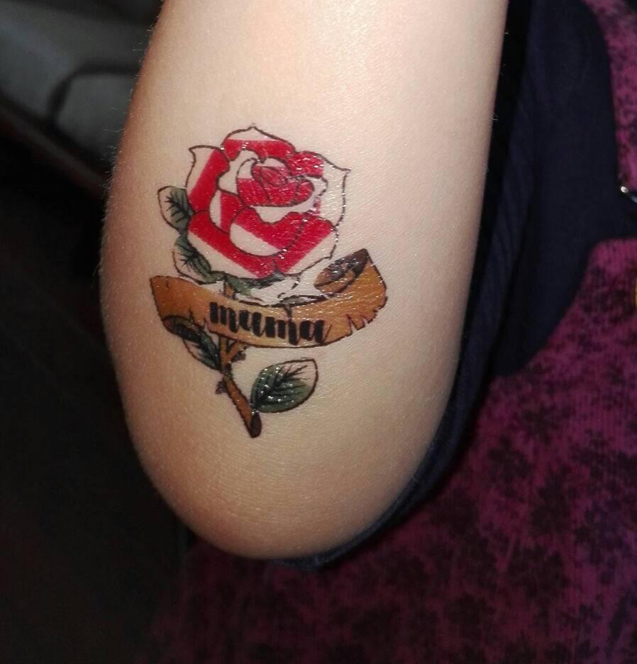 Geliefde Tattoo Roos Arm MK51 | Belbin.Info &ST29