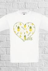Ananas ijs hartjes t-shirt met naam - geen verzendkosten