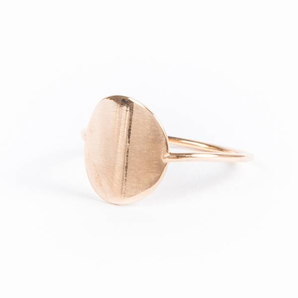 charlotte wooning ring geometry coin goud