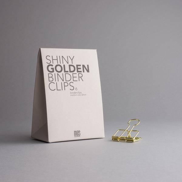 MUS grote clips - goud