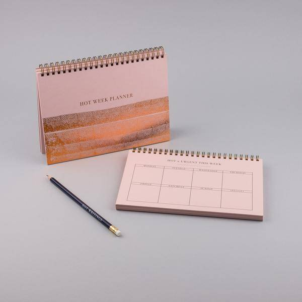MUS week planner A5 pink