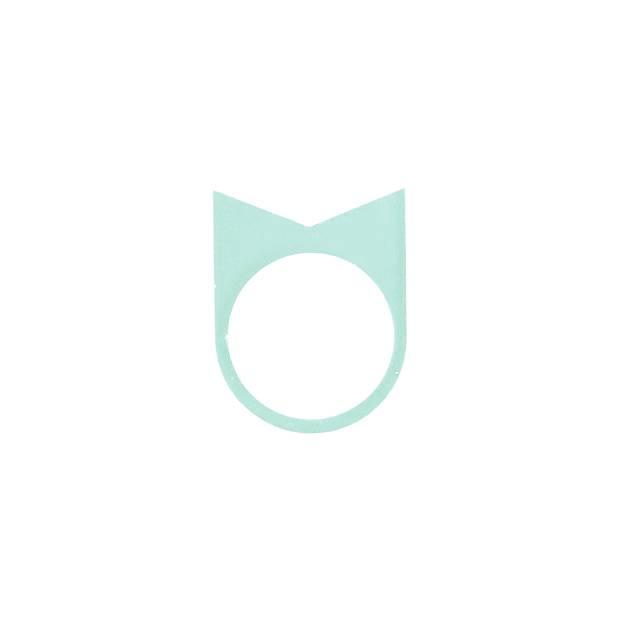 OFORM  ring acrylate  no. 22| 1.0  glacier green