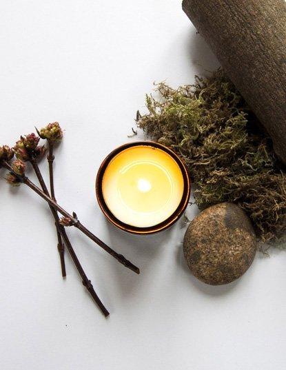handmade candle co. geurkaars Rosewood & Moss