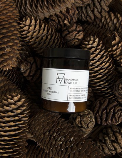 handmade candle co. geurkaars PIne - groot