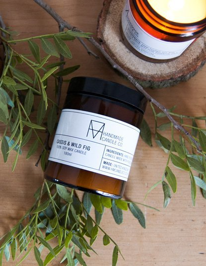HANDMADE CANDLE CO. geurkaars Cassis & Wild Fig - groot