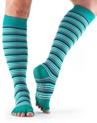 ToeSox Half-Toe with Grip SCRUNCH Knee-High in: Emerald ...