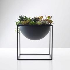 By Lassen grote schaal Kubus Bowl zwart