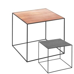 By Lassen bijzettafel Twin 42 table koper-zwart