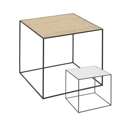By Lassen bijzettafel Twin 42 table wit-eiken