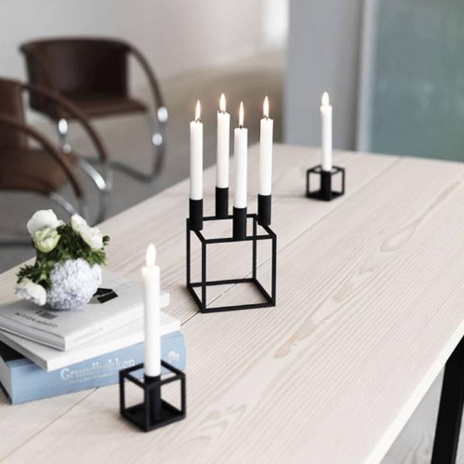 by lassen kubus 4 kandelaar zwart nu kopen gratis bezorgd nordic blends. Black Bedroom Furniture Sets. Home Design Ideas