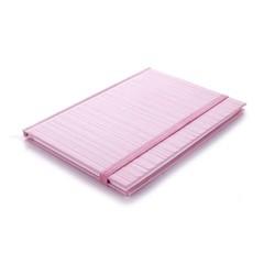 Edblad gestreept notitieboekje rose
