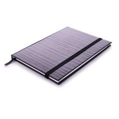 Edblad gestreept notitieboekje zwart