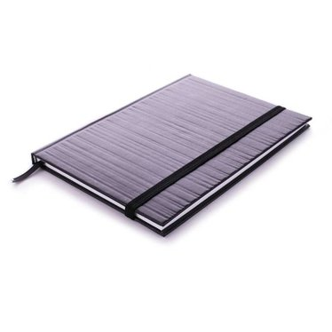 Edblad Notebook embossed stripe black