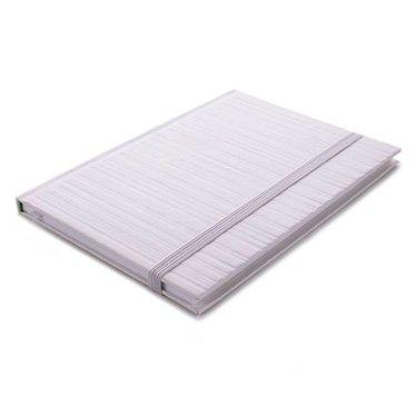 Edblad Notebook embossed stripe off-white