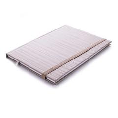 Edblad gestreept notitieboekje beige