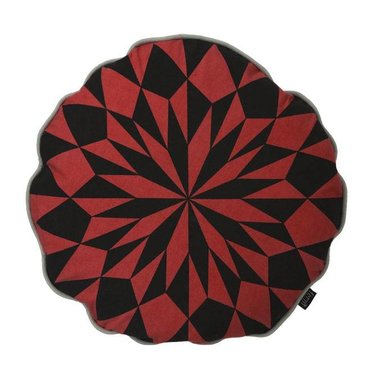 Ferm Living Double-sided round cushion Star rust