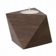 Ferm Living tealight holder Cube smoked oak