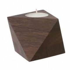 Ferm Living tealight holder Cube smoked oak